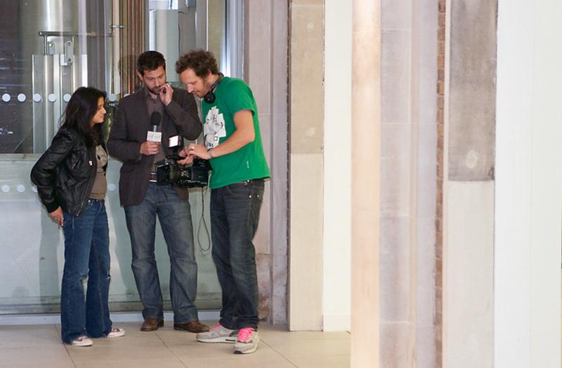 Film crew at UCL