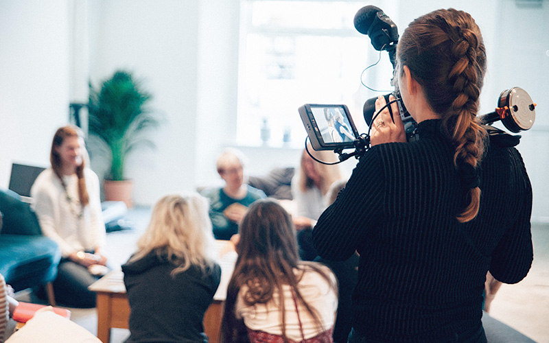 Filming a group discussion