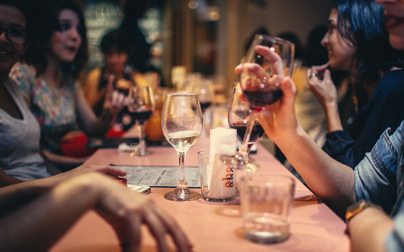 People with drinks