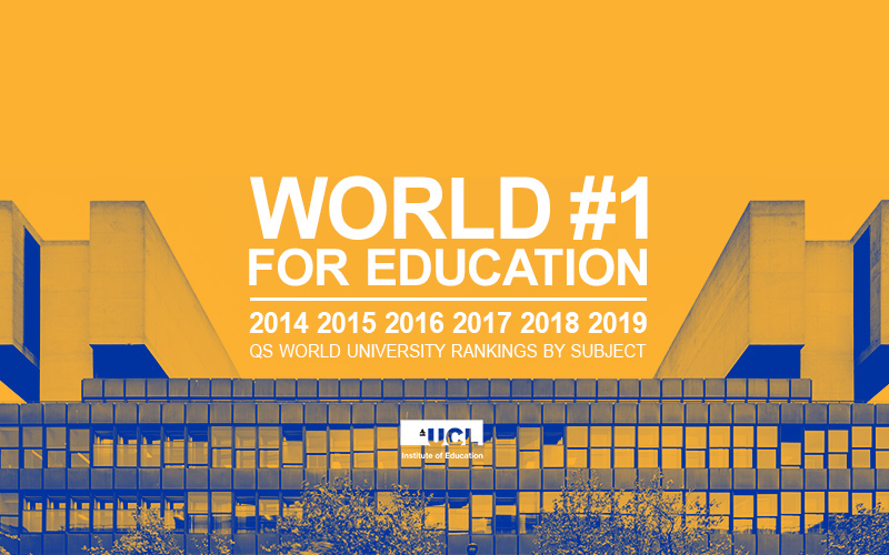 UCL Institute of Education named World Number 1 for Education
