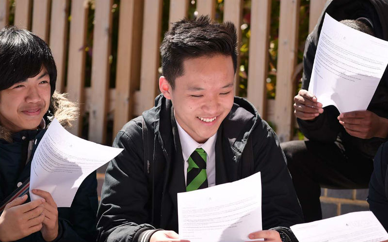 Secondary school boys reading results