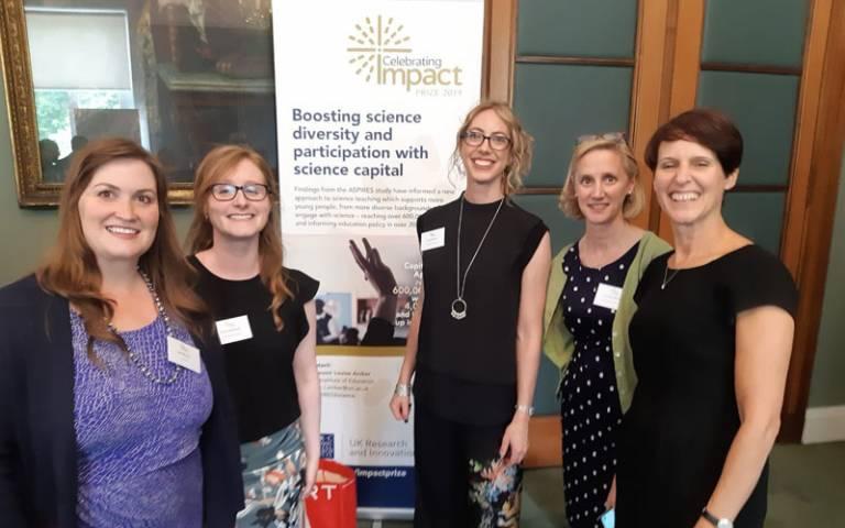 ASPIRES team at the ESRC Celebrating Impact Prize.