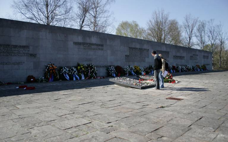 Memorial at Bergen-Belsen concentration camp. Image from Chripps via Flickr (CC BY-SA 2.0)