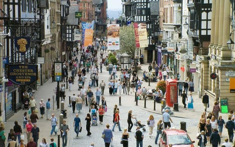 Street of people