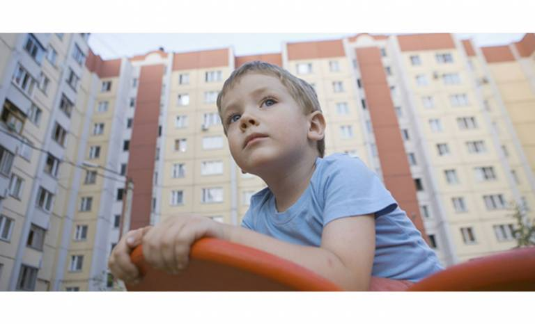 Child by Block of Flats