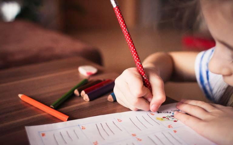 Child writing. Image: Pixabay via Pexels