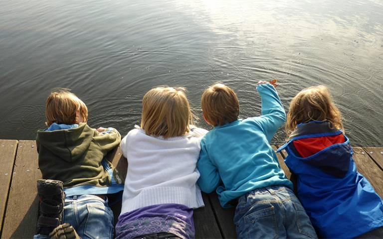 children at waterside