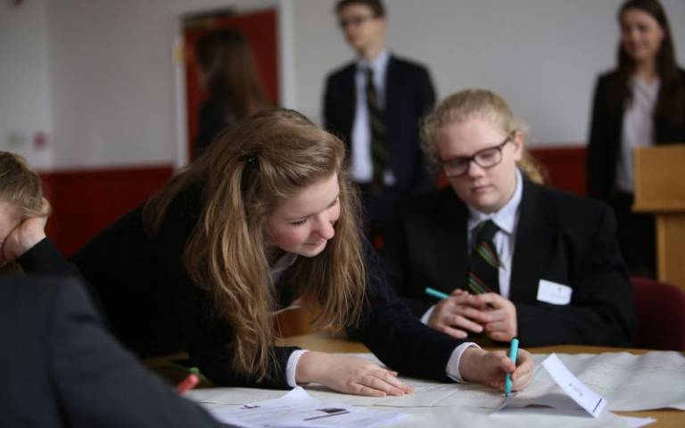 Secondary class group work. Image: Wellington College via Flickr (CC BY-NC 2.0)