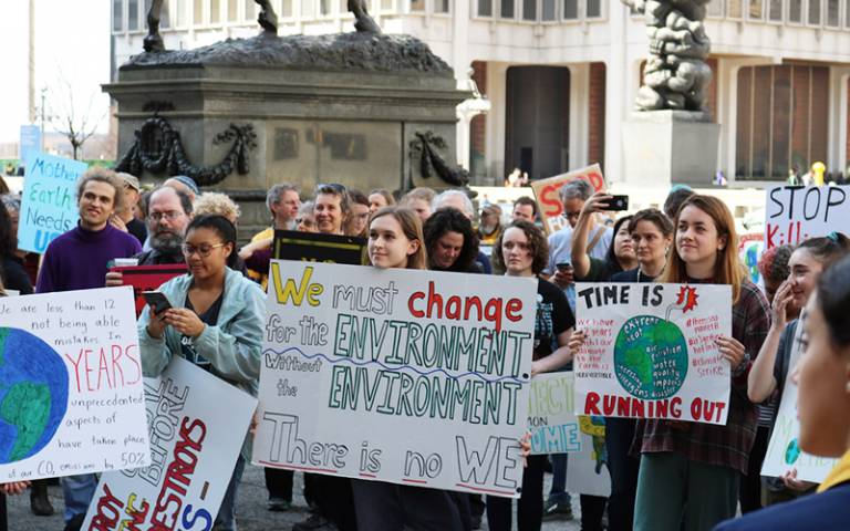 Protest for global environmental challenges and the role of education