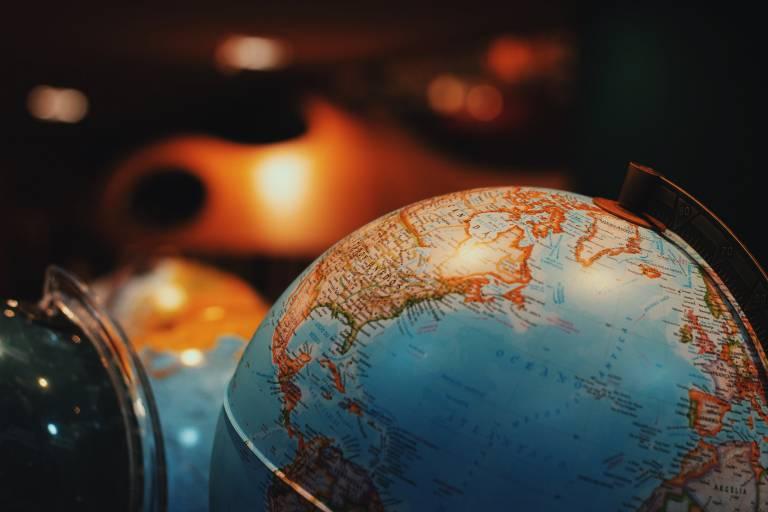 View of a globe. Image: Juliana Kozoski via Unsplash