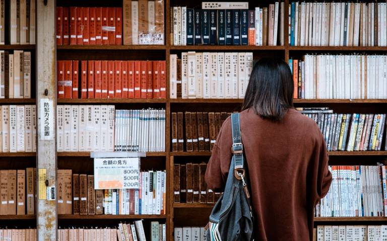 Student reading in a library in Japan. Image: Abby Chung