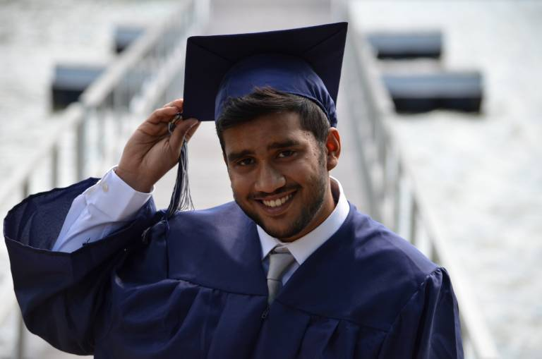 Middle Eastern student graduating