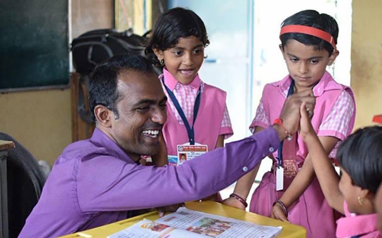 2020 Global Teacher Prize Winner Ranjitsinh Disale. Image: Courtesy of the Varkey Foundation
