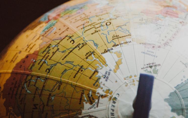 Top of a globe. Image: NastyaSensei via Pexels