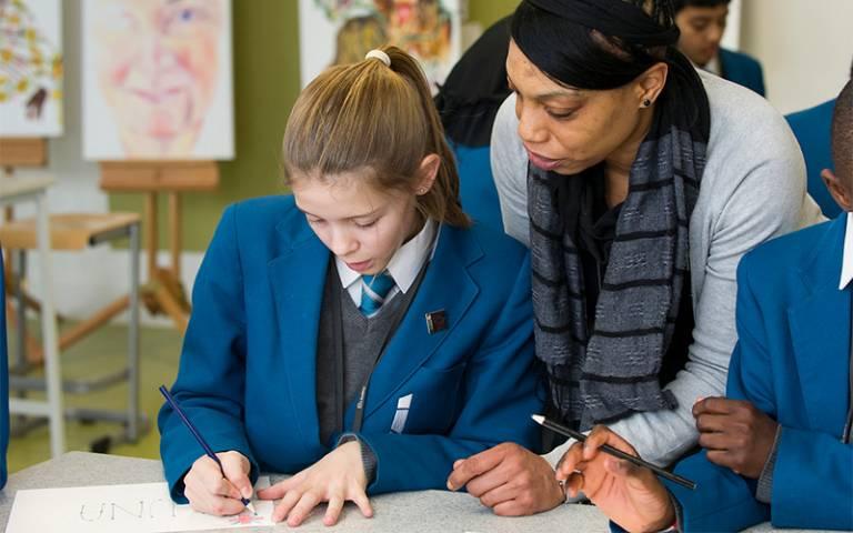 uniform pupil working - UCL Imagestore, Kirsten Holst