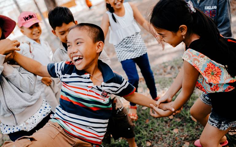 Vietnamese children playing