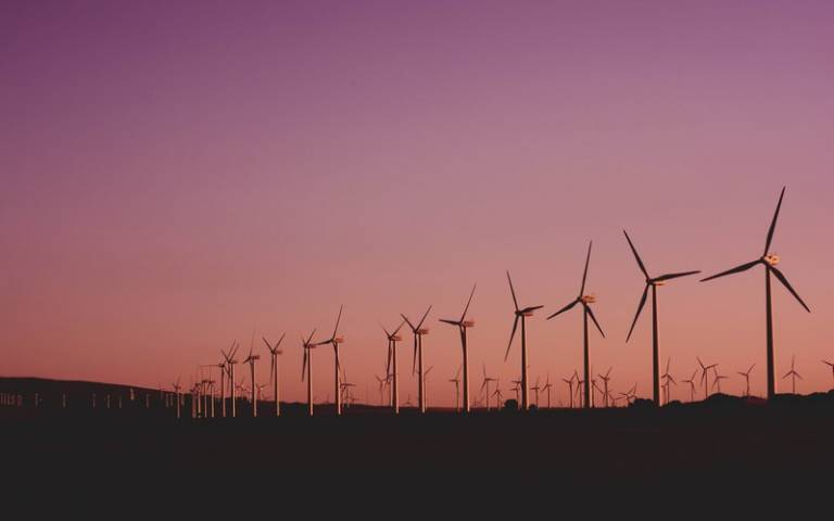 Wind turbines. Image: Narcisa Aciko via Pexels