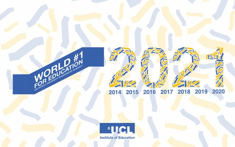 Graphic showing the IOE has been ranked 1st in the world for education in 2021