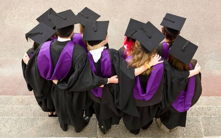 Graduates in robes