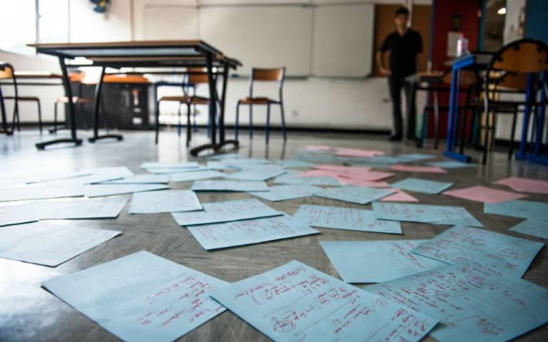 Homework marking on the floor