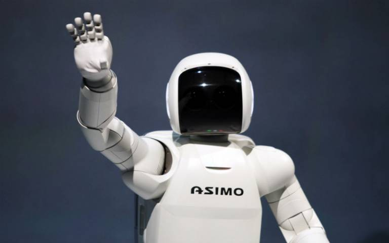 Robot ASIMO. Credit: rubra, Ars Electronica via Flickr (CC BY-NC-ND 2.0)