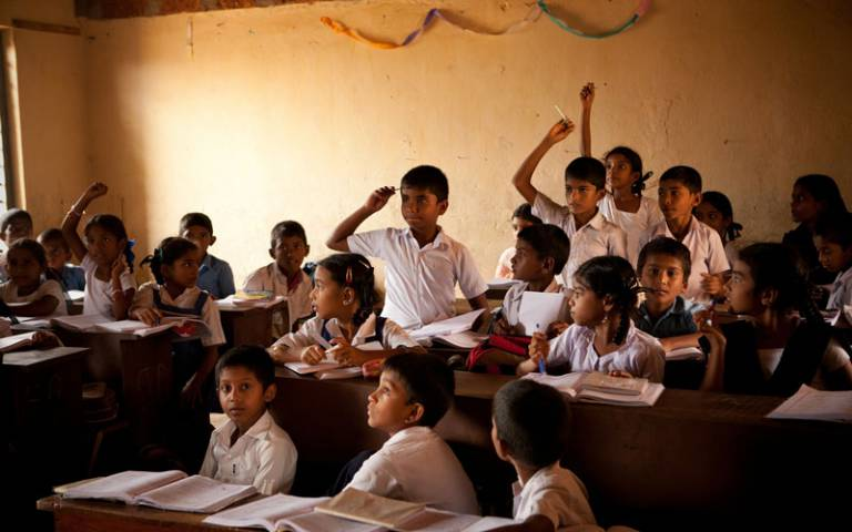 Indian children in classroom