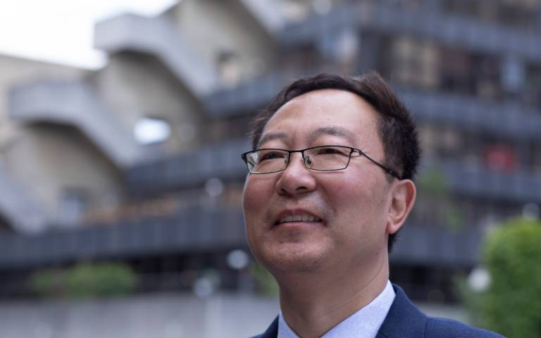 Professor Li Wei outside the UCL Institute of Education building (Photo by John Cobb for UCL Institute of Education)