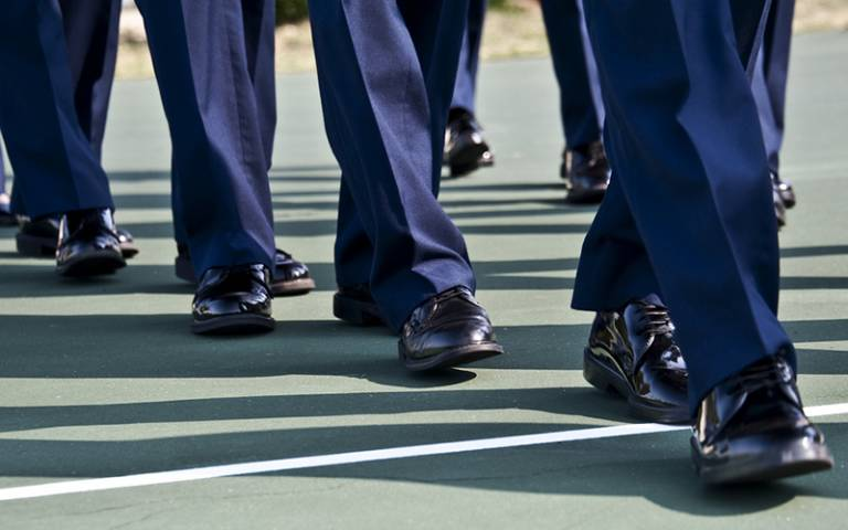 Marching inspection. Image: Samuel King Jr (CC BY-NC-ND 2.0)