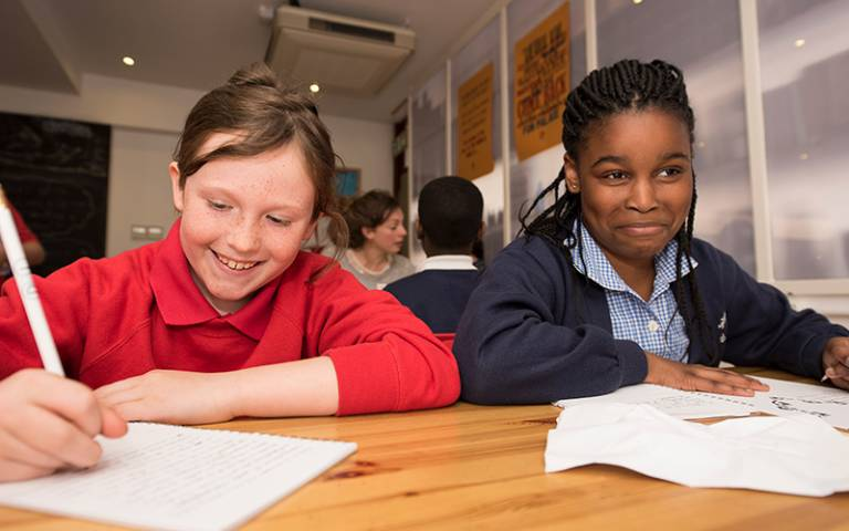 Children at a Ministry of Stories workshop (Photo: Tom Oldham)