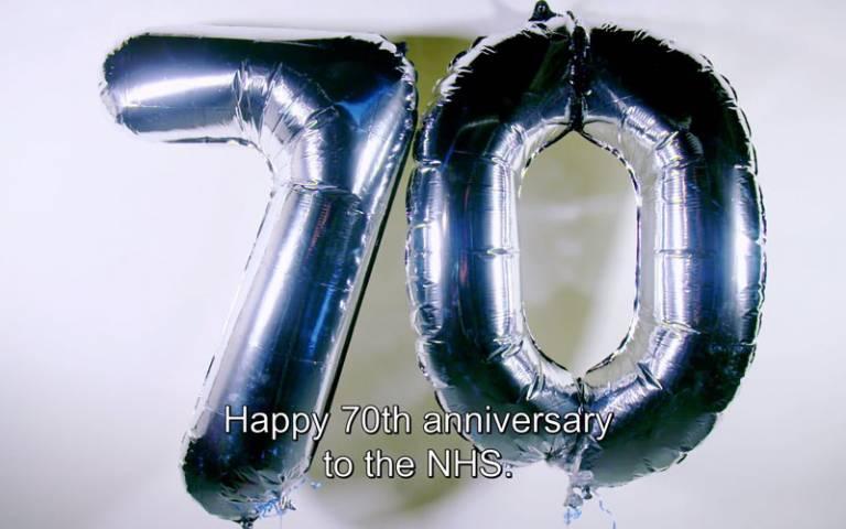 NHS at 70. Screenshot: UCL video.