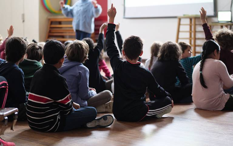 Primary children in lesson. Image: Phil Meech for UCL Institute of Education