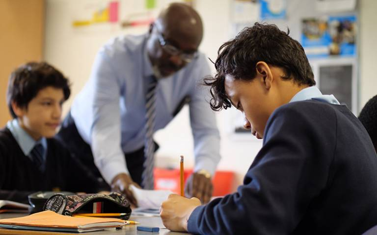 Pupil writing in class. Image: Phil Meech for UCL Institute of Education