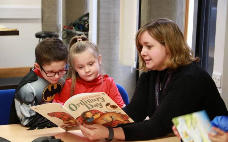 Read Aloud 2019: schoolchildren reading at the IOE