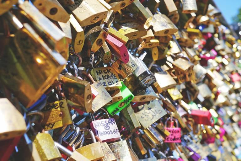 Romantic padlocks