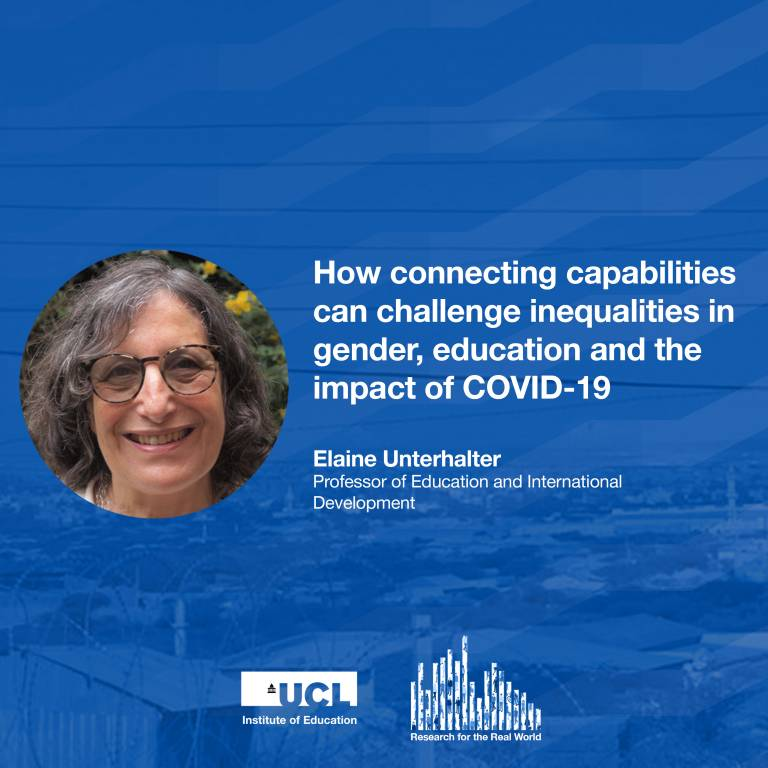 Professor Elaine Unterhalter, Research for the Real World podcast