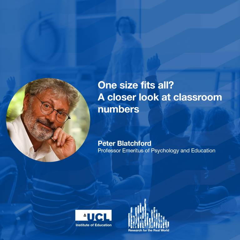 Professor Emeritus Peter Blatchford, Research for the Real World podcast