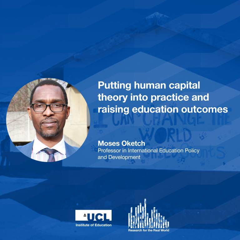 Professor Moses Oketch on Research for the Real World IOE podcast