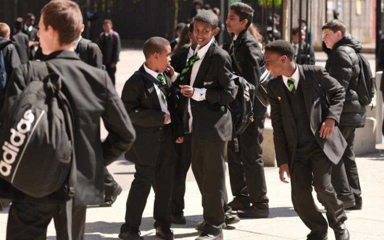 School boys in the UK