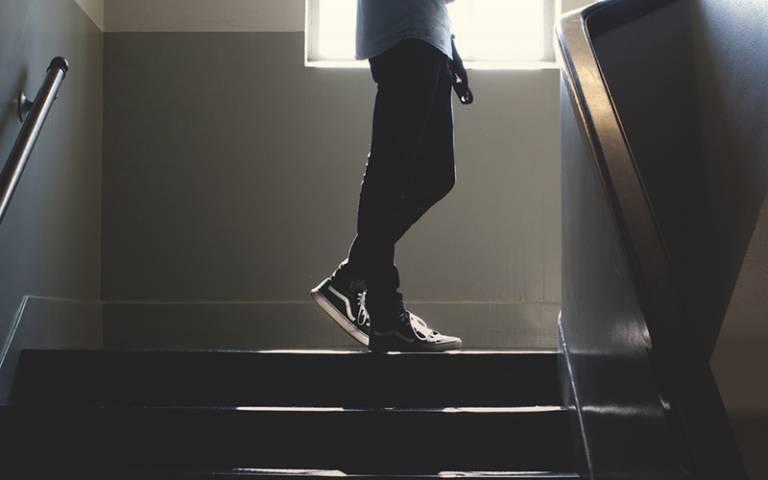 School stairwell