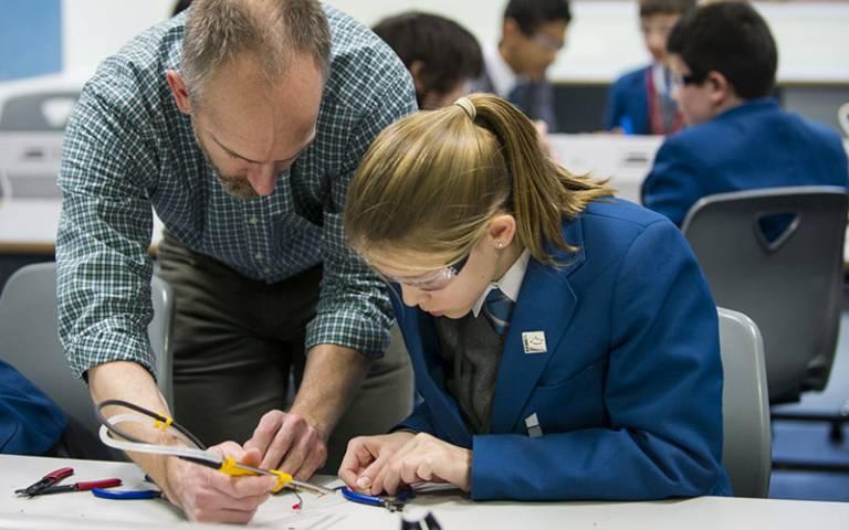 Electrical engineering in school