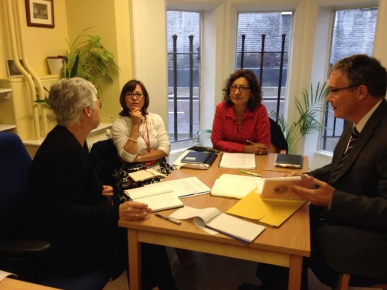 Gill Brackenbury and Jennifer Donovan from SENJIT meet Westminster School (@WSchoolSEND)