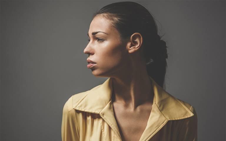 Side gaze young woman