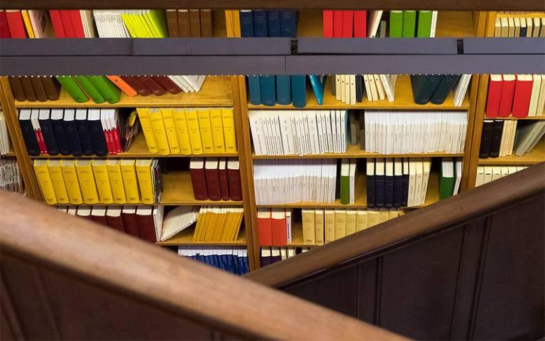 shelf of books - UCL Imagestore, Mary Hinkley