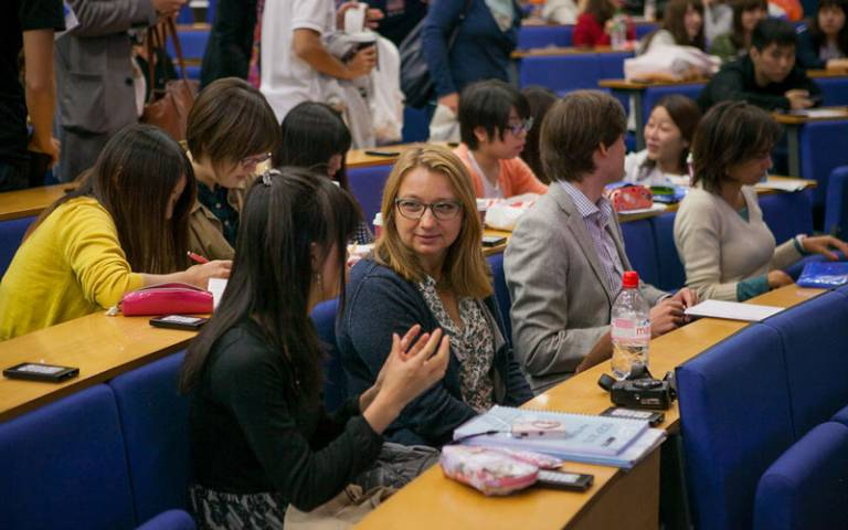 Students in a phonetics class. Image: UCL Imagestore