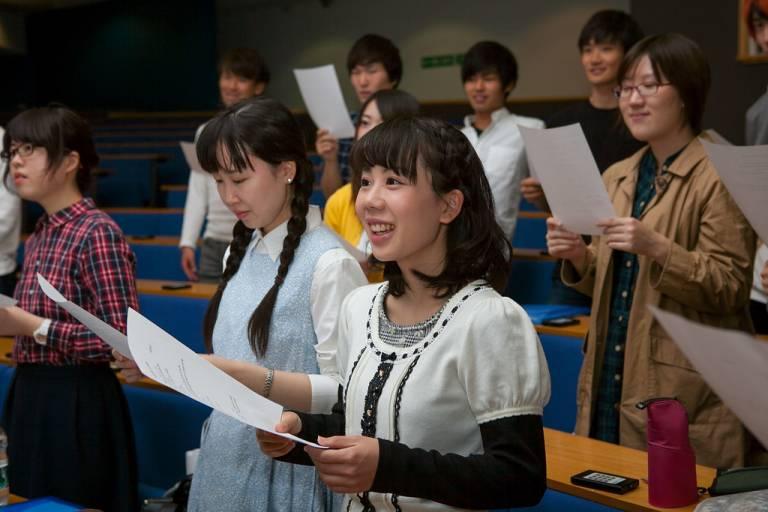 Students speaking, pronunciation