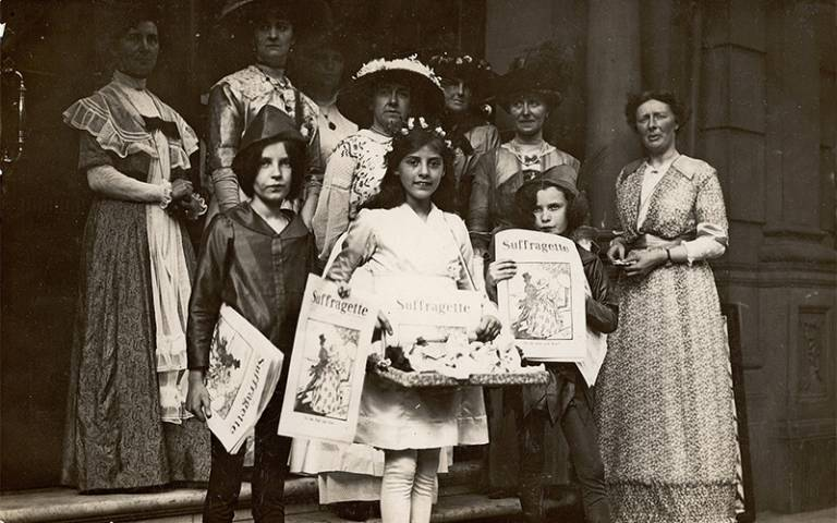 Suffragettes and children
