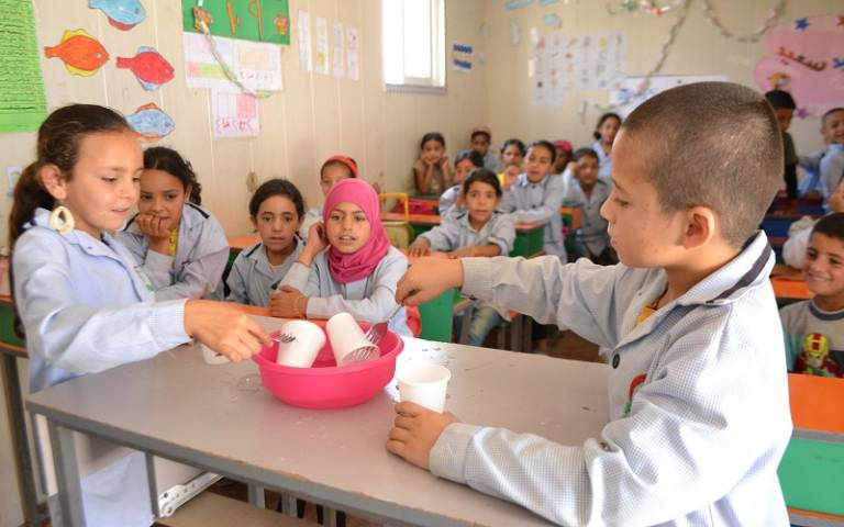 Syrian refugees in school. Image: Brian Lally / Multi Aid Programs