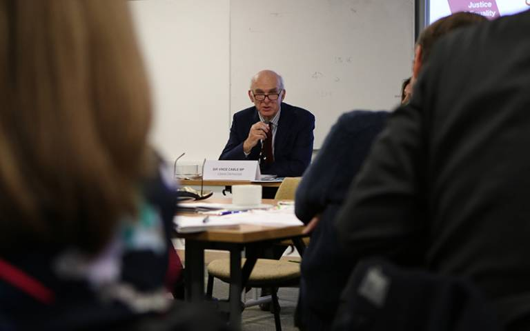 Sir Vince Cable - Routes to Opportunity report launch - UCL Grand Challenge of Justice and Equality
