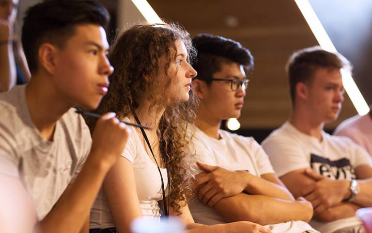 Undergraduate students in class. Photo: Alejandro Walter Salinas Lopez, UCL Digital Media