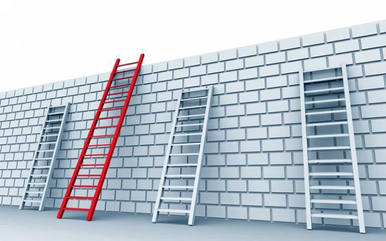 Unequal ladders